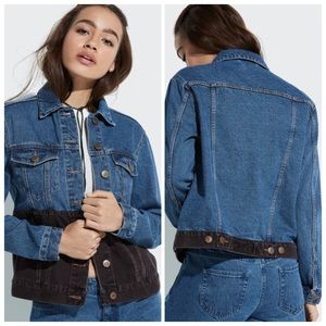 NWOT Two-Tone Denim Jacket